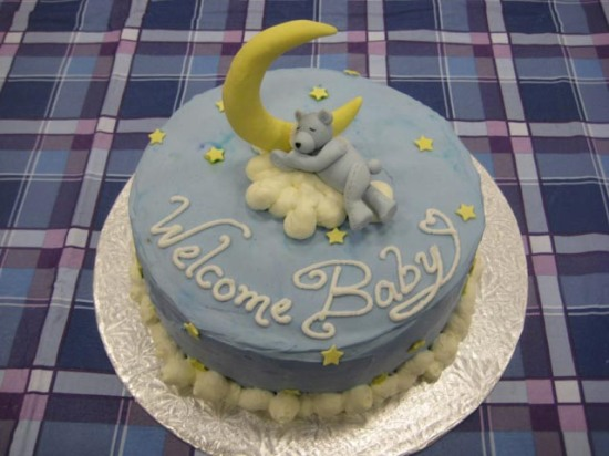 Welcome Baby – Pink and Blue Teddy Bear Shower Cakes