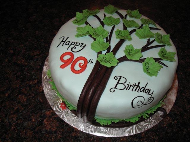 A Family Tree Cake For 90th Birthday Celebration