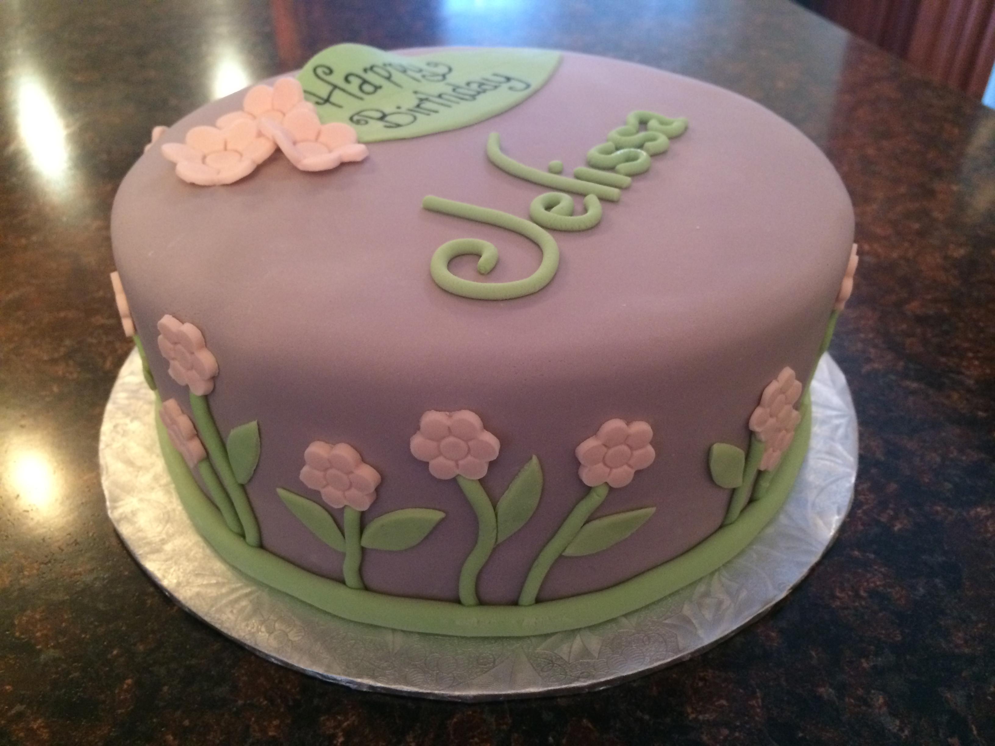 Pretty Birthday Cake  Cakes by Caralin