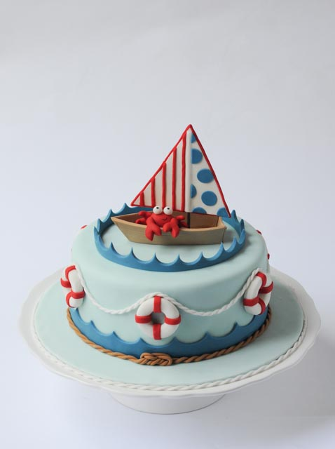 Nautical Baby Shower Cake Vertical