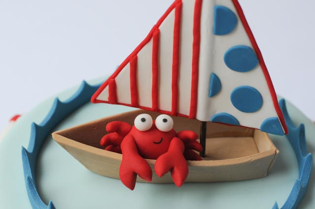 Nautical cake close up