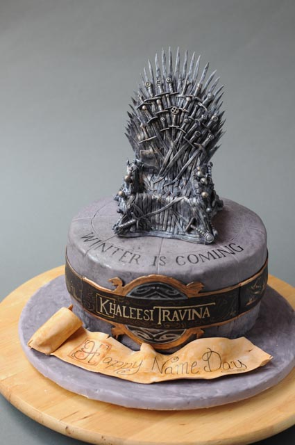 Game Of Thrones Themed Wedding Cake